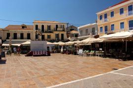 Lefkada - ulica Ioannou Mela - rynek