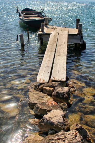 Lefkada - pływający most