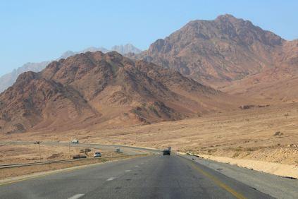 Jordania w tydzień - droga z Wadi Musa do Akaby