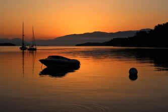 Nidri - wschód słońca