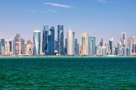 Doha skyline viewpoint