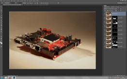 Der Ablauf beim Focusstacking in Photoshop -- Basis waren acht Aufnahmen mit wanderndem Fokus.