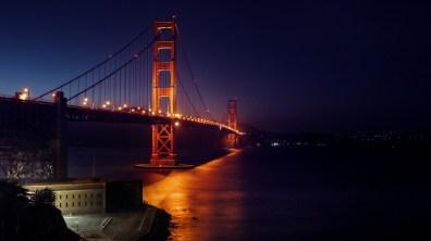 SF / Golden Gate Bridge am Abend