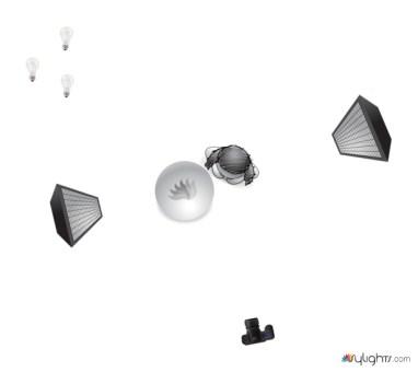 Symbolischer Lichtaufbau