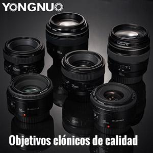 Guía objetivos Yongnuo.