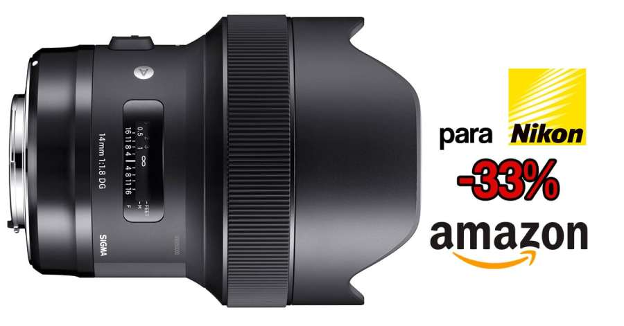 Precio mínimo histórico Sigma 14mm f/1.8 ART para Nikon.