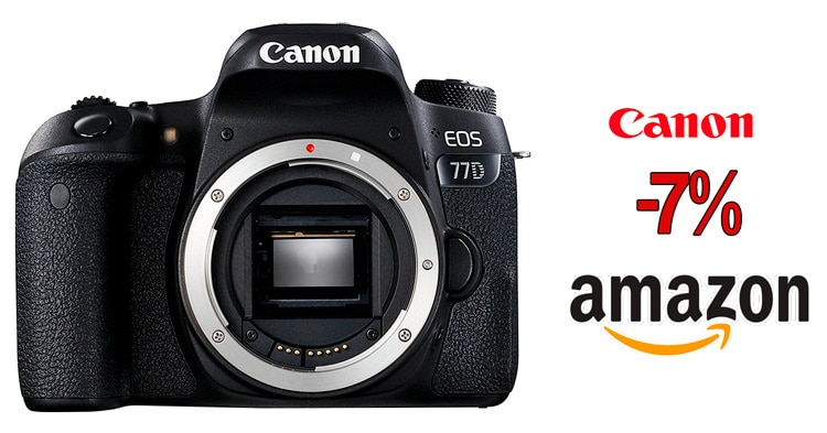 Precio mínimo histórico Canon 77D.