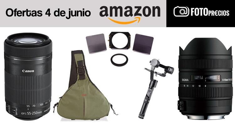 Ofertas fotográficas del 4 de junio en Amazon.