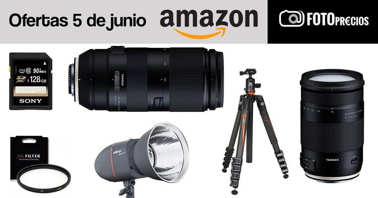 Ofertas fotográficas del 5 de junio en Amazon.