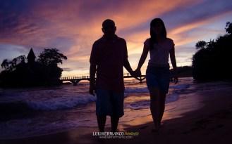 PRewedding pantai romantis siluet