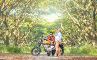 foto prewedding motor muslim