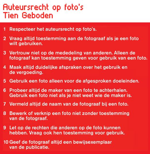 respecteer de 10 geboden met betrekking tot auteursrecht!