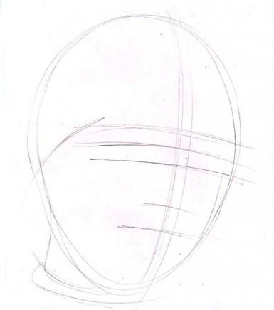خطوط چهره از یک کودک