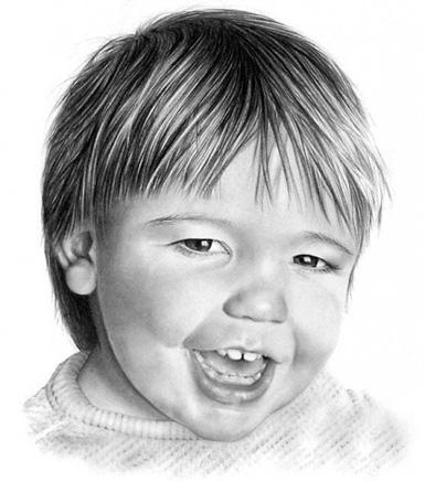 portré egy gyermek arcát
