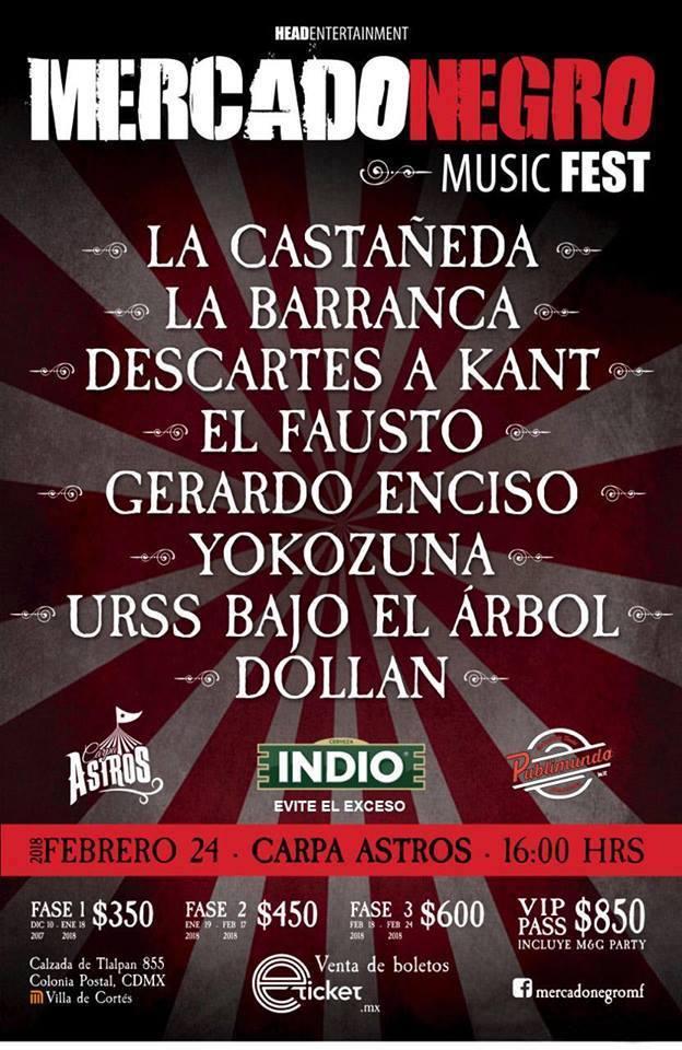 Mercado Negro Music Fest en Carpa Astros para Febrero