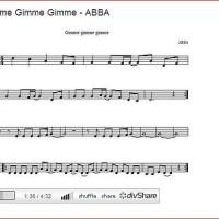 Gimme Gimme Gimme : notas flauta