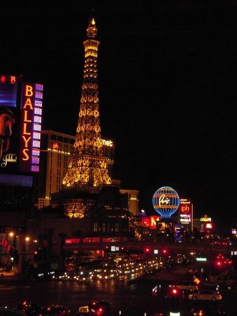Strip de Las Vegas de noche