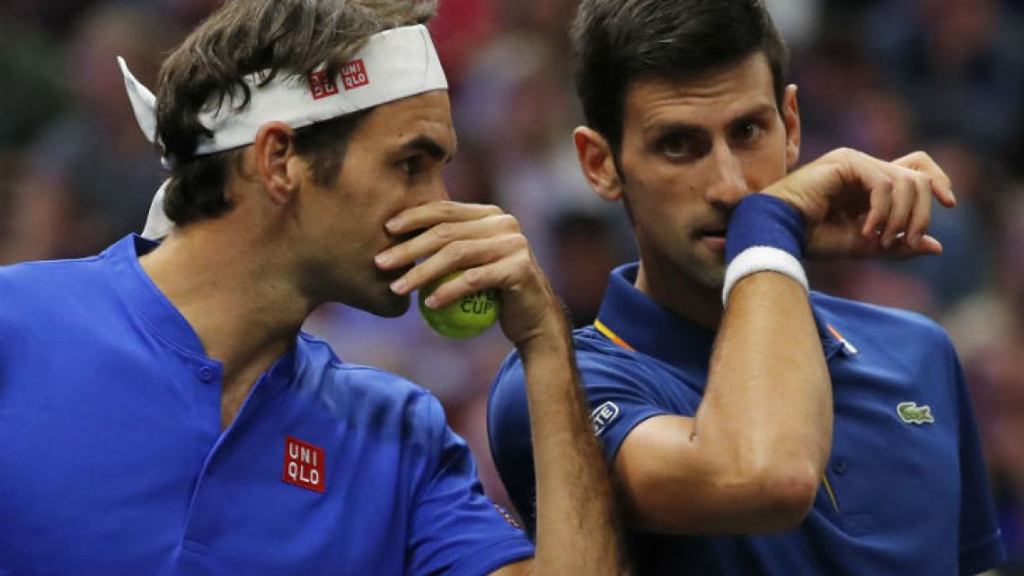 Resultado de imagen para Djokovic y Federer juntos