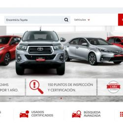 Toyota Argentina website dedicated to used vehicles.