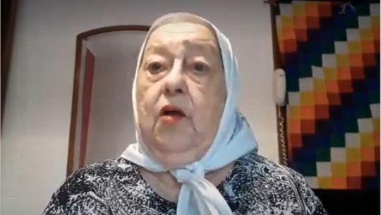 Hebe de Bonafini, en el video con duras críticas al presidente Alberto Fernández y el ministro Martín Guzmán.
