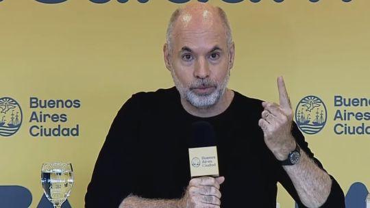 Horacio Rodríguez Larreta en conferencia de prensa
