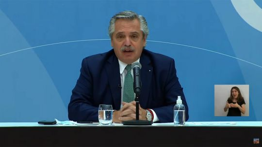 Conferencia de prensa Alberto y Vizzotti 20210419