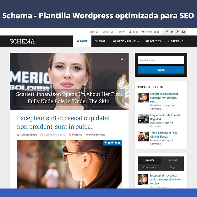 Schema – Plantilla WordPress optimizada para SEO