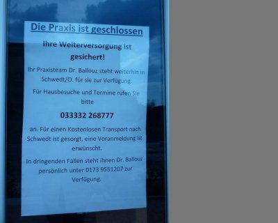 Vorschaubild : Zweigpraxis Dr. Ballouz bleibt geschlossen