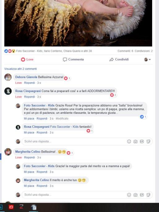 Un lungo elenco di commenti, che hanno ricevuto le nostre fotografie, postate su facebook.