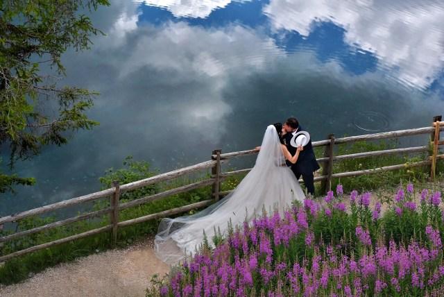 lago di carezza (BZ) #fotografomatrimoni #fotografopermatrimonio