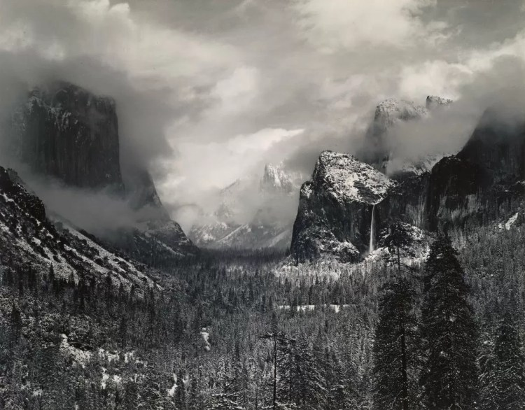 ANSEL ADAMS - Clearing-Winter-Storm