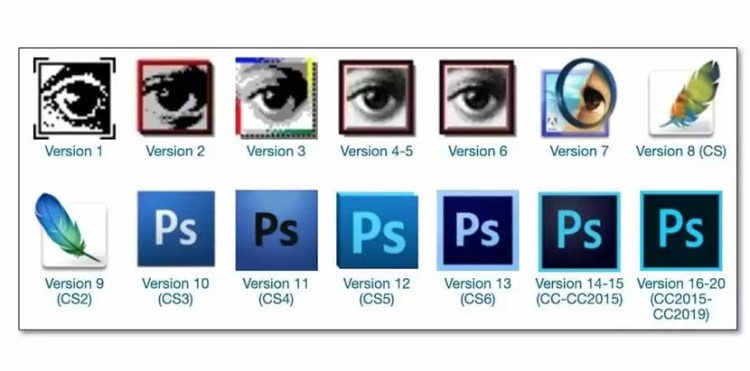 Versiones de Adobe Photoshop
