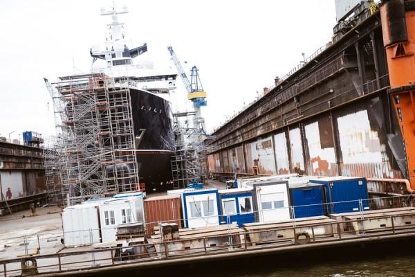 Trockendock im Hamburger Hafen