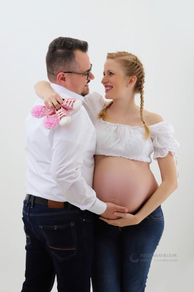 várandós fotózás