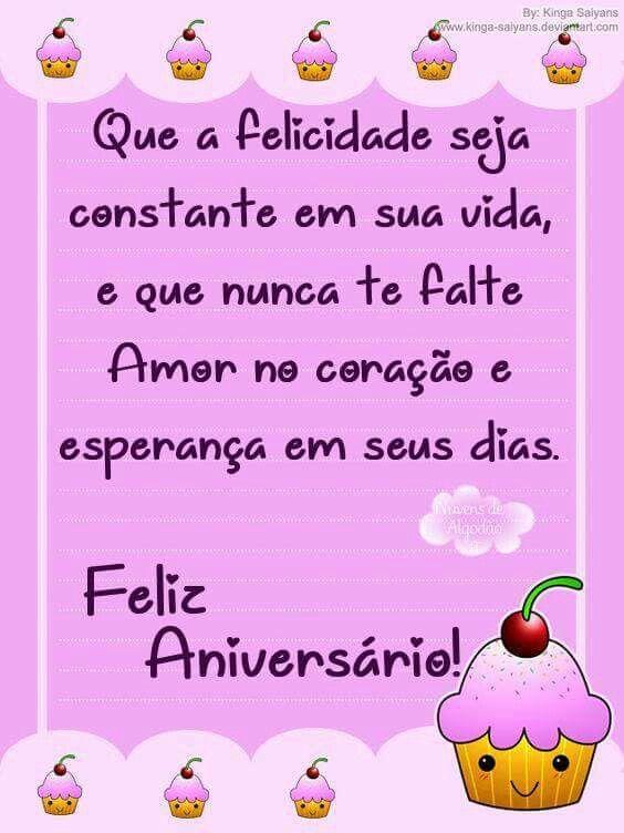 Felicidade constante parabéns Feliz aniversário.