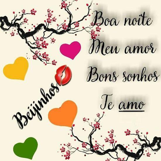 Boa noite meu amor bons sonhos te amo boa noite