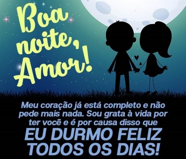 Boa noite meu amor que amo de mais!