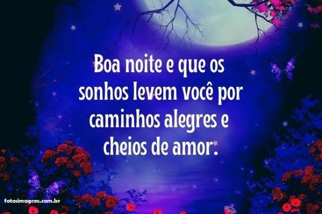 Passando para te desejar uma linda noite de amor! lindas Imagens com mensagens de boa noite
