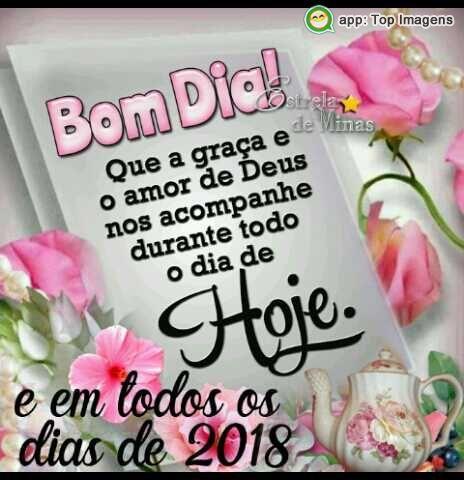 Bom dia que nesta manhã possamos levantar e viver a vida feliz, sempre com Deu na frente de tudo!!!