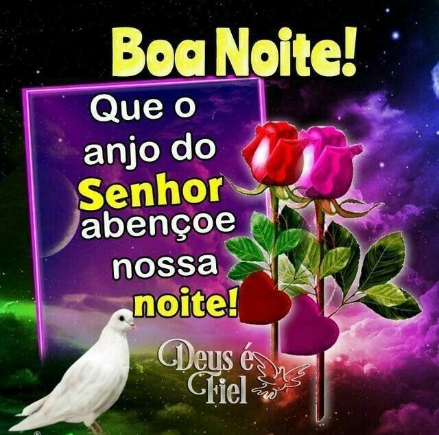 Boa noite, que o anjo do Senhor abençoe nossa noite