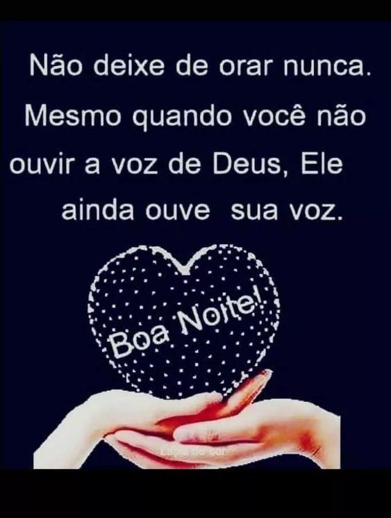 Ore e agradeça a Deus boa noite