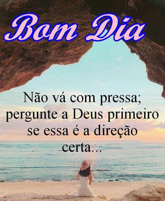 Bom dia na direção de Deus