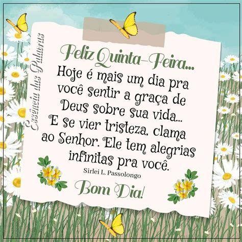 Hoje é mais um dia pra sentir a graça de Deus, feliz quinta-feira