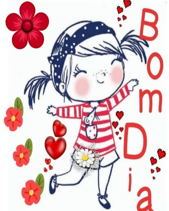 Bom dia florido de alegria