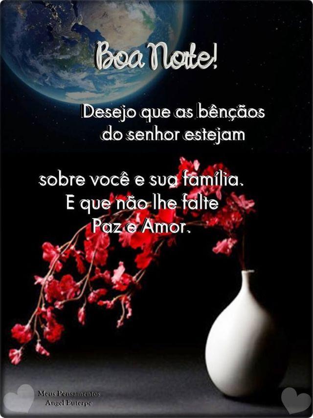 Boa noite com as bênçãos do Senhor