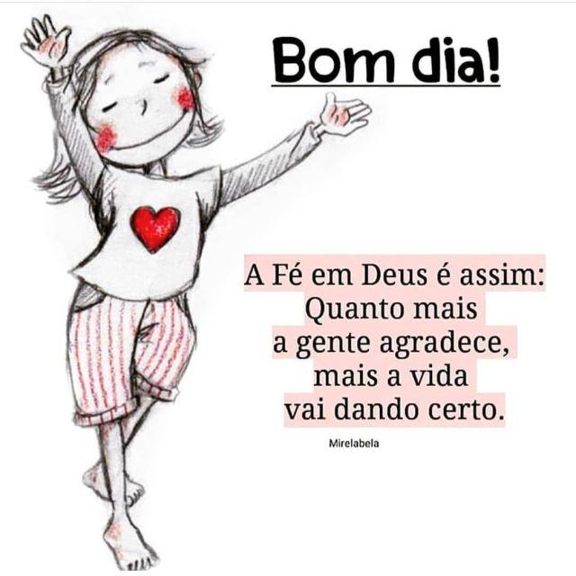 Bom dia, a fé em Deus