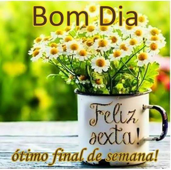 bom dia e feliz sexta feira com um ótimo fim de semana