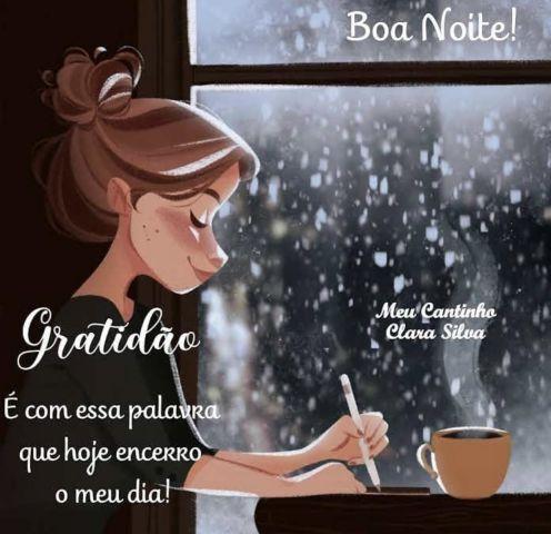 gratidão é a palavra que encerro meu dia