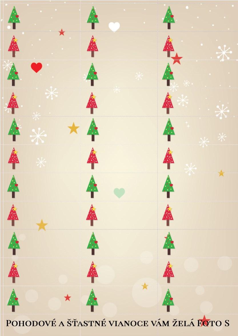 Vianočné štítky na darčeky na stiahnutie