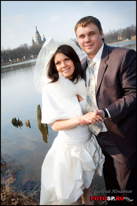 Свадебный фотограф. Свадьба ранней весной
